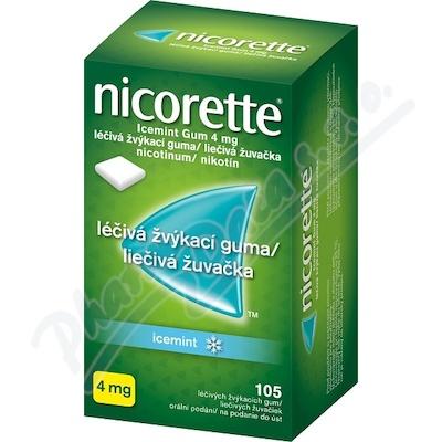 Nicorette Icemint Gum 4mg léčivá žvýkací guma 105
