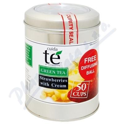 Čaj Cuida Te sypaný zelený Smetanové jahody 100g