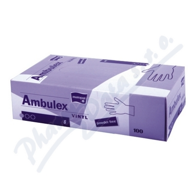 Ambulex Vinyl rukavice vinyl.nepudrované S 100ks