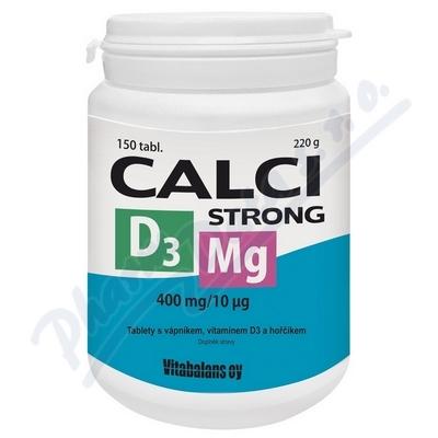 Calci Strong+Mg+D3 tbl.150 Vitabalans