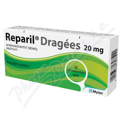 Reparil-Dragées 20mg tbl.ent.40