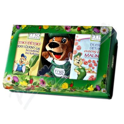 Dětská dárková kazeta s čaji a hračkou Fytopharma