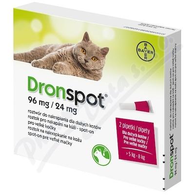 Dronspot 96mg/24mg velké kočky spot-on 2x1.12ml