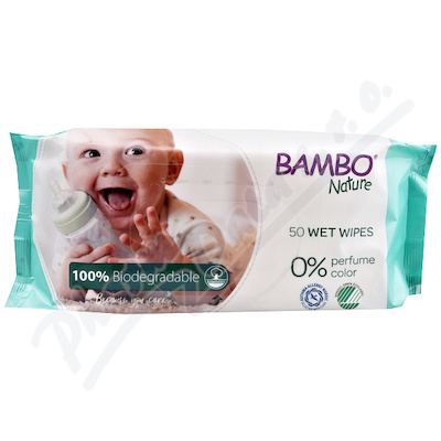 Bambo Nature biodegradabilní dětské ubrousky 50ks