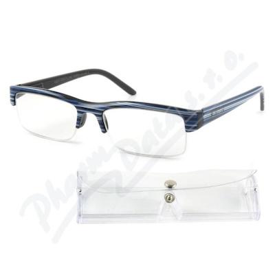 Brýle čtecí +1.50 modro-černé s pouzdrem FLEX