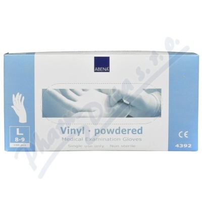 ABENA Rukavice vyšetřovací Vinyl L pudrované 100ks