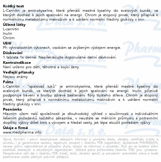MedPharma L-Carnitin 500mg+Inulin+Chrom tbl.67